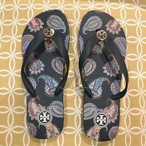 Tory Burch Flip Flops Sandals Size 8 NWT